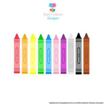FREE Crayons Clip Art - Art Clipart - Digial ClipArt Graphics