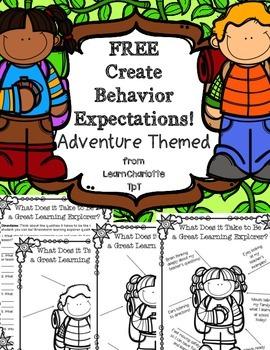 FREE Design Behavior Expectations Posters {Adventure Theme}