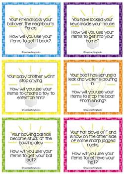 FREE Create - Think - Solve Creative Thinking Prompt Cards (NZ/AU/UK)