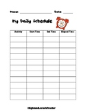 FREE Create Your Own Daily Schedule and Find Elapsed Time Activity