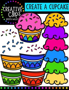 {FREE} Create a Cupcake {Creative Clips Digital Clipart}