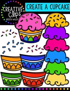 {FREE} Create a Cupcake {Creative Clips Digital Clipart}