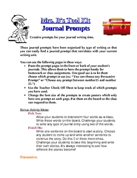 FREE: Creative Journal Prompts!