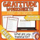 Thanksgiving Gratitude Worksheet to Print or Use with Easel Activities
