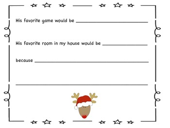 FREE Creative Writing Activity: If Rudolph Came to Live At My House For a Year