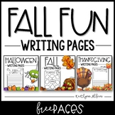 FREE Creative Writing Pages for Fall, Halloween & Thanksgiving