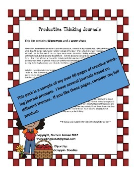 ***FREE*** Creative Writing (Productive Thinking) Rock Star Journal Pages