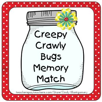FREE Creepy Crawly Bugs Memory Match