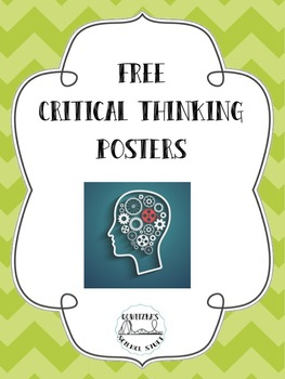 FREE Critical Thinking Posters