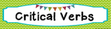 FREE Critical Verbs of the Common Core Word Wall Banner