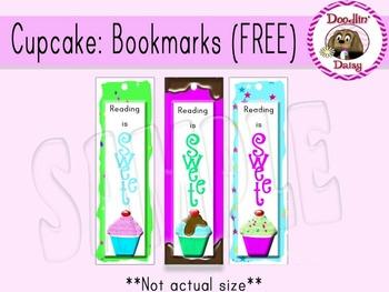 FREE Cupcake: Bookmarks
