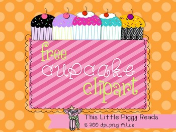 FREE Cupcake Clipart - Please Use Credit Button