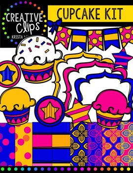 {FREE} Cupcake Creative Kit {Creative Clips Digital Clipart}