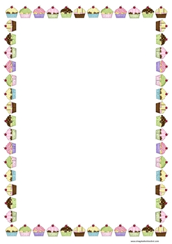 Free Cupcake Page Border By Imaginative Teacher Tpt