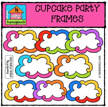 FREE Cupcake Party Frames {P4 Clips Trioriginals Digital Clip Art}