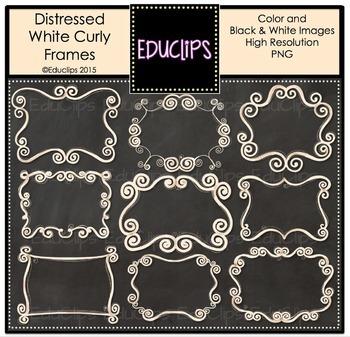 ~FREE~ Curly Frames Clip Art Bundle {Educlips Clipart}