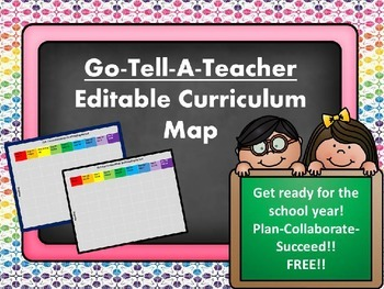 FREE Curriculum Map- Don't forget to follow my store!!!