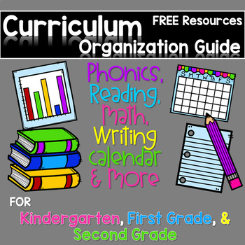 FREE Curriculum Map for Kindergarten , First Grade, and Second Grade