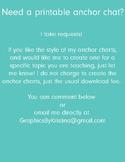 FREE Custom Anchor Charts