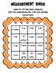 FREE Customary Units of Measure Bingo Game