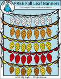 FREE Fall Leaf Banner Clip Art Set - Chirp Graphics