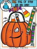 FREE Halloween Trick or Treat Bag and Candy Clip Art Set - Chirp Graphics