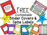 FREE Editable Binder Covers