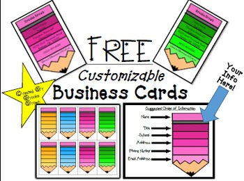 FREE Customizable Business Cards