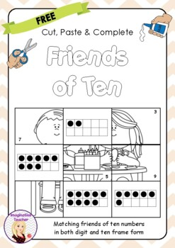 FREE Cut, Paste and Complete - Friends of Ten