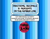 Cut-and-Paste Ordering fractions decimal & percents on the number line