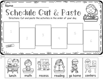 FREE: Cut and Paste Schedule