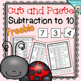 FREE - Cut and Paste Subtraction to 10 - Subtraction to Te