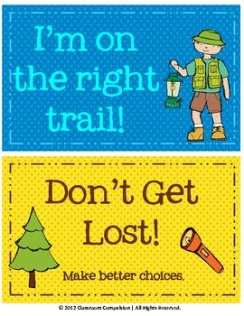 FREE Cute Camping Clip Chart
