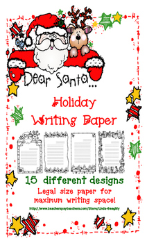 FREE – Cute Christmas Lined Writing Paper
