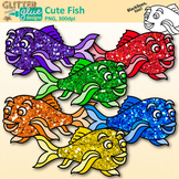 Rainbow Fish Clip Art: Sea Creature Graphics {Glitter Meets Glue}