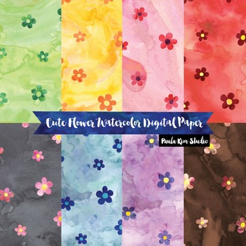 FREE Flower Digital Paper
