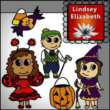 FREE Cute Halloween Kids {Digital Clip Art}