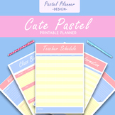 FREE Cute Pastel Teacher Binder Planner Printable