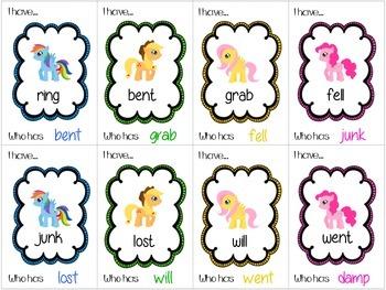 FREE! Cute Pony I have...Who has..? Decoding CVC, CVCC, CCVC
