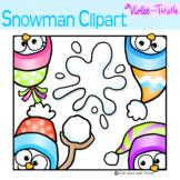 FREE Cute Snowman Peekers Snowman Peeking Page Topper Snowmen Fun Faces Clipart