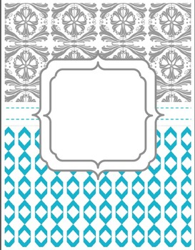 ~ FREE ~ Cute and Classy Binder Cover Sheets for Printing