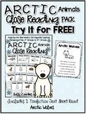 FREE Cuttin' It Close! Arctic Animals Close Read {Kindergarten, 1st & 2nd Grade}