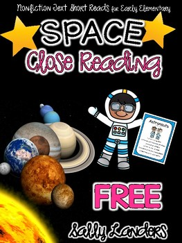 FREE Cuttin' It Close! SPACE Close Read - Astronauts  {Early Elementary}