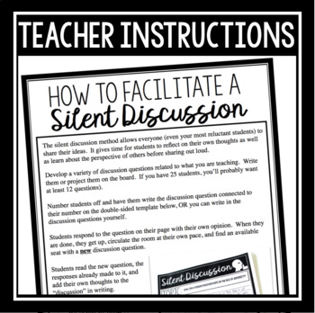 FREE DISCUSSION ACTIVITY: SILENT DISCUSSIONS