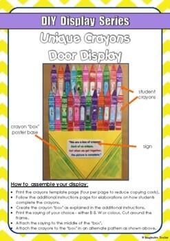 FREE DIY Display Series Crayons Collaborative Display