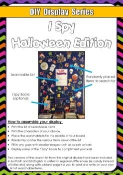 FREE DIY Display Series - I Spy Halloween