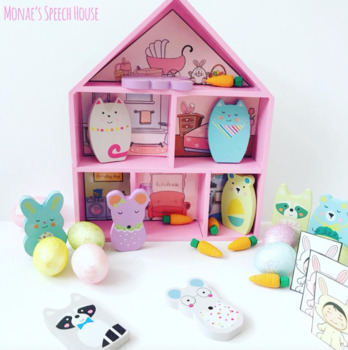 FREE DOLLHOUSE PICTURES SPEECH THERAPY for (TARGET DOLLAR SPOT WOODEN HOUSE)