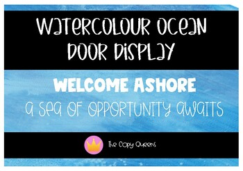 FREE DOOR DISPLAY - Welcome Ashore a sea of opportunity awaits