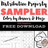 FREE DOWNLOAD Distributive Property With Negs Color by Num