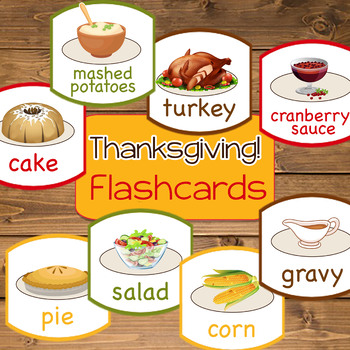 FREE DOWNLOAD ~ Thanksgiving Food Flashcards